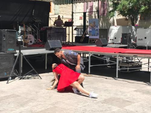Elric et Estelle - Démonstration du Rock des Alpilles au SUMMER VINTAGE d'Aramon - 16 juin 201