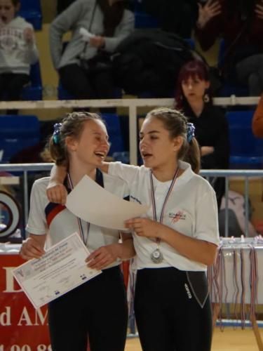 Championnat Régional à Avignon - 22 Fevr 2020 - Joie des médaillées !v